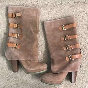 Report Light Brown Suede Boots